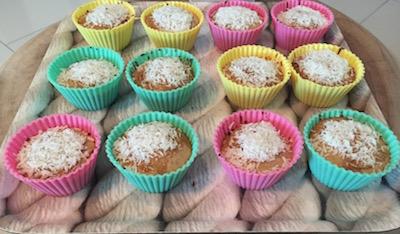 coconut whole wheat muffin