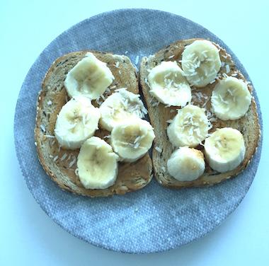 hazelnut banana bites