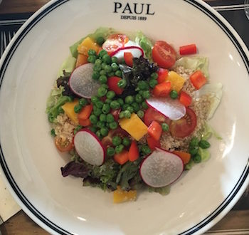 Quinoa salad at Paul JBR