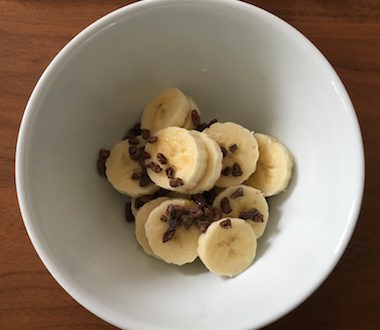 coco flakes banana breakfats
