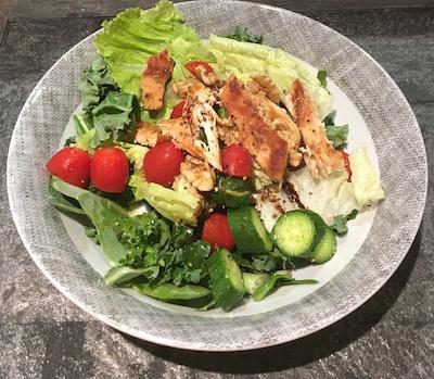 grilled organic chicken salad