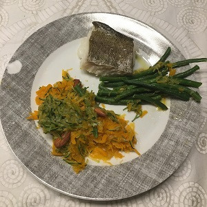 cod and veggies
