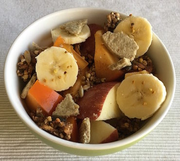 buck wheat and banana gluten free snack