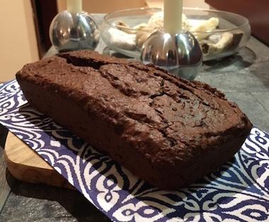 organic dark chocolate and coconut bread